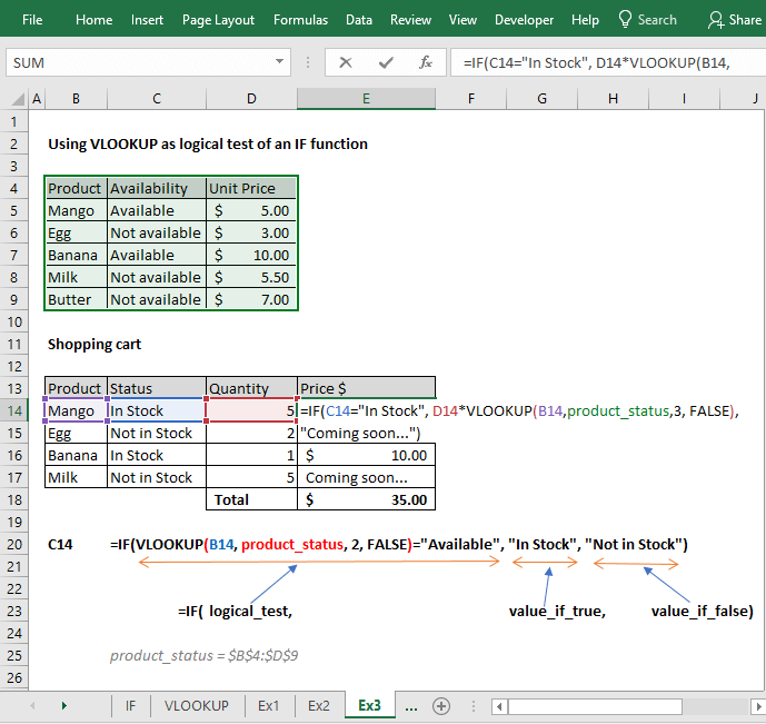 Using Vlookup With If Condition In Excel 5 Examples Exceldemy