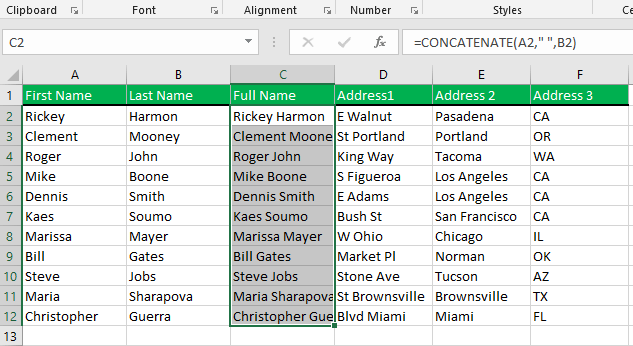 Copy and pasting the formula for other cells in the same column.