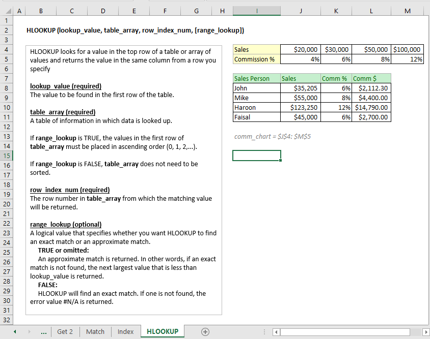 Using Excel to get data from another sheet based on cell value