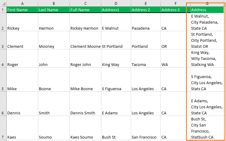Merge two or more cells in Excel homework. If you can do this, you're understanding this article.