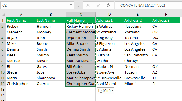 Select all the cells, then use CTRL + C to copy and then using CTRL + V to paste the formula in the same place