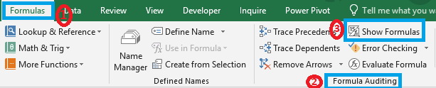 How to Show Formula in Excel Cells Instead of Value