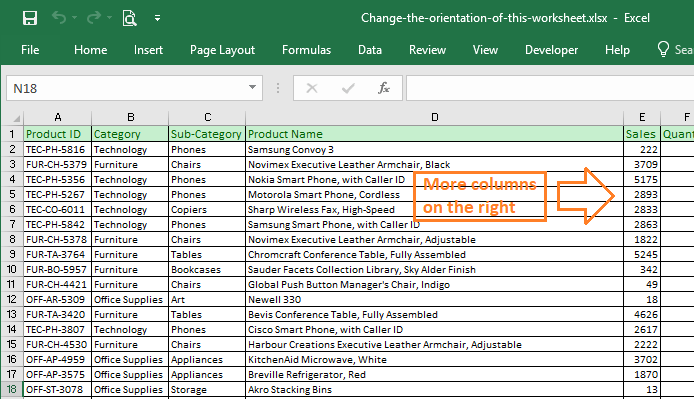 How to change the orientation of a worksheet to Landscape ...