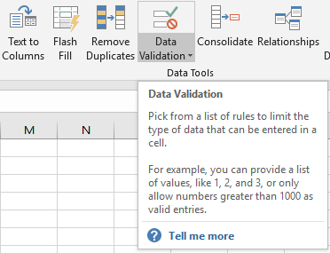 Excel Data Validation Based on Another Cell