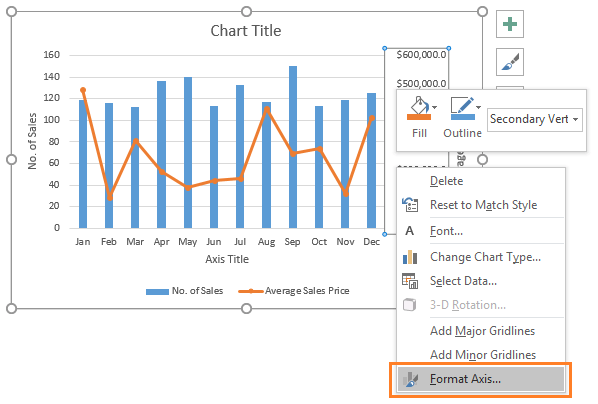 how to add y axis in excel
