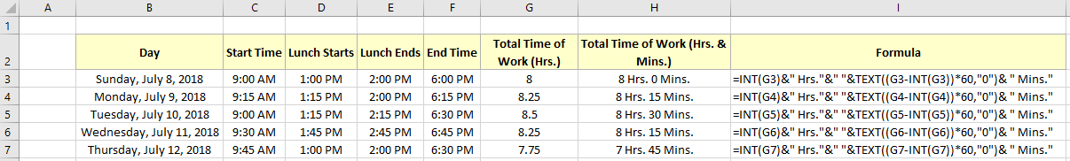 Excel Formula to Calculate Hours Worked Minus Lunch | ExcelDemy