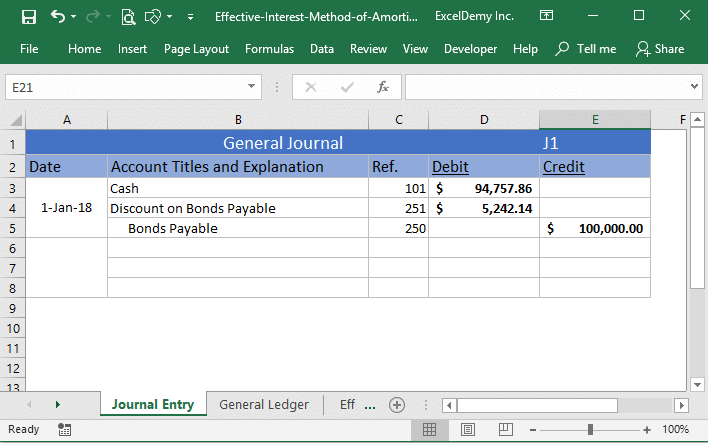 effective interest method of amortization excel Image 1