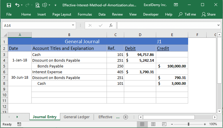 effective interest method of amortization excel Image 4