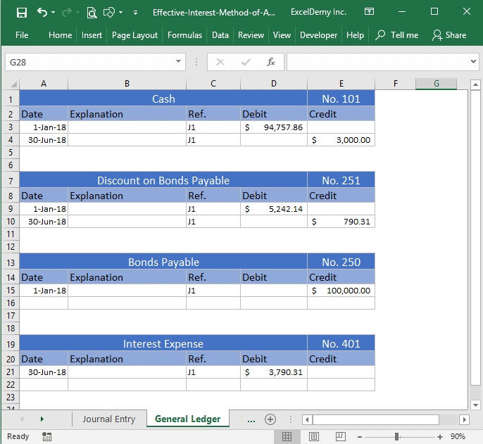 effective interest method of amortization excel Image 5