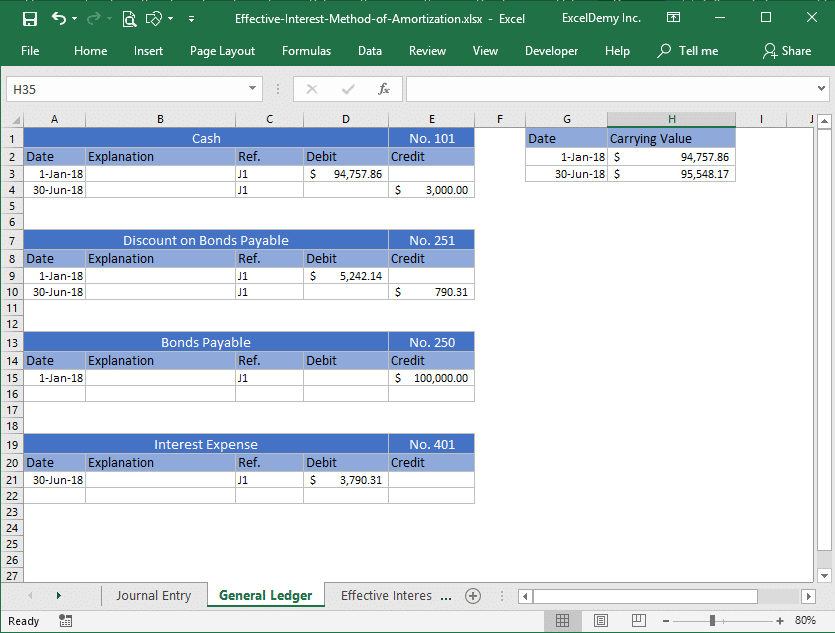 effective interest method of amortization excel Image 6