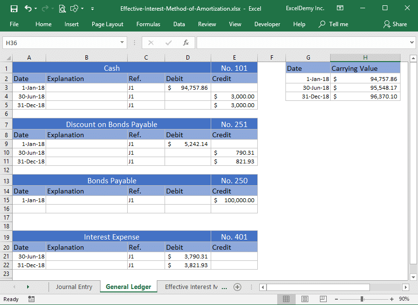 effective interest method of amortization excel Image 8