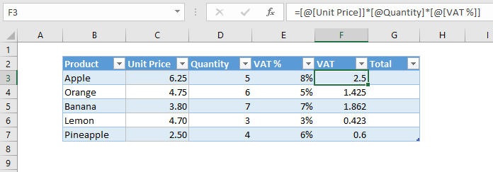 apply same formula in more than one cell in Excel