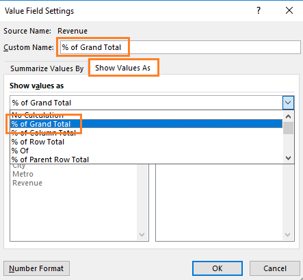 value field settings dialog box excel