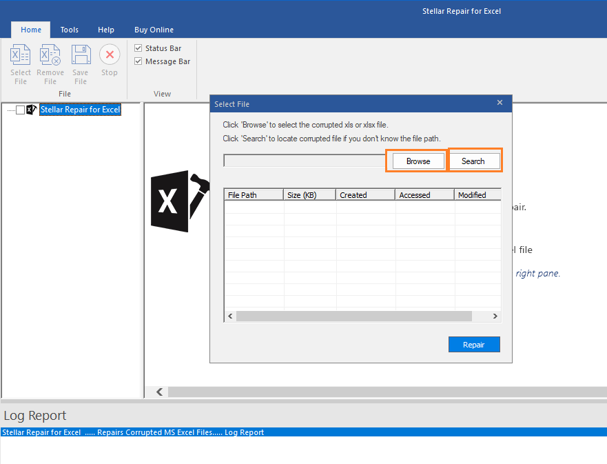 Stellar Repair for Excel Tool