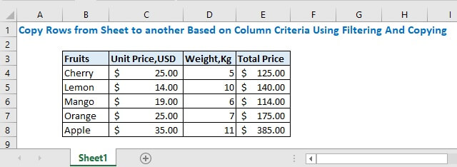 Copy Rows From a Sheet to Another Based on Column Criteria (Filtering and Copying)