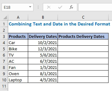 Combining Text and Date in the Desired Format