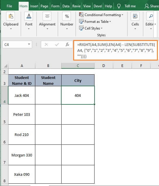 Text Num -Excel Split Cell by Delimiter Formula