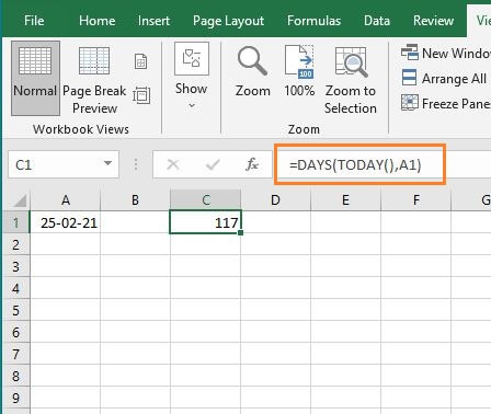 DAYS representation - How to Calculate Average Tenure of Employees in Excel