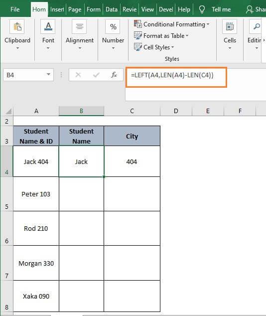 Text Num 2-Excel Split Cell by Delimiter Formula