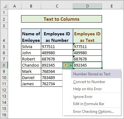 Text Columns to Store Number As Text without Leading Zeros