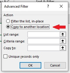Select Copy to another Location option.