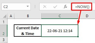 Automatically enter date and timestamp by using now function