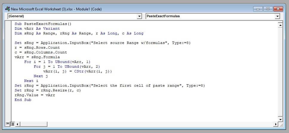 Code Written in Macros