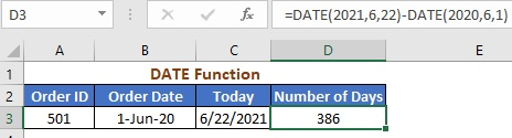 Using DATE Function