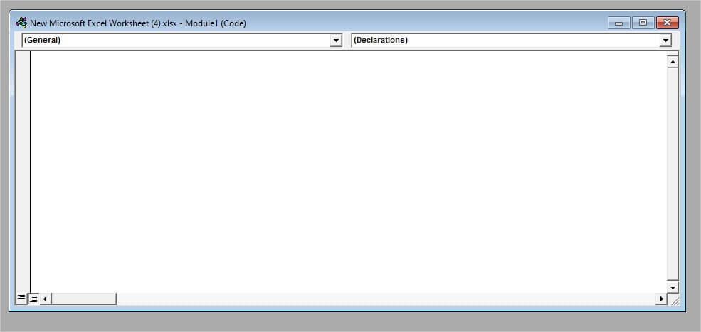Module Window in Excel
