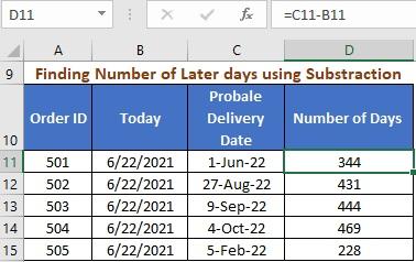 Simple Subtraction Formula