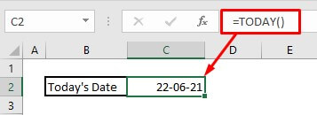 Automatically enter date by using today function