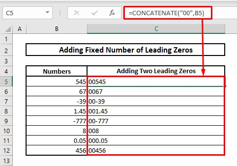 Keep fixed or particular number of leading zeros