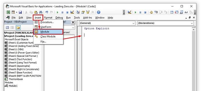 Keep leading zeros by using VBA