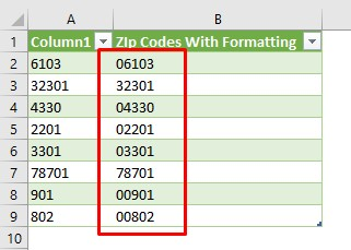 Keep leading zeros by using power query & padtext