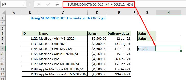 Enter the formula