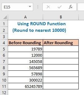 Using ROUND Function