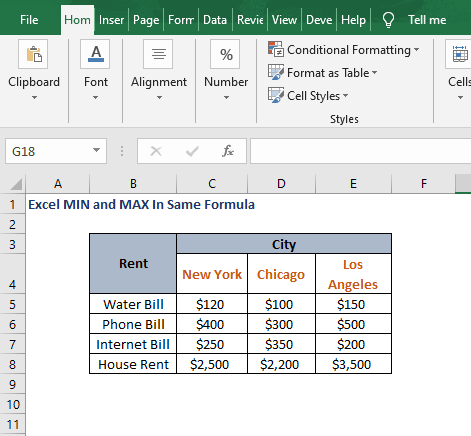 Excel sheet - Excel MIN and MAX In Same Formula