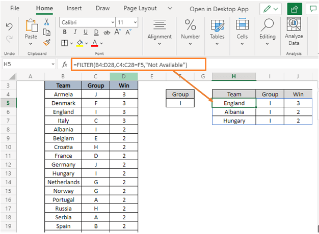 if_empty - How to Filter Data in Excel using Formula
