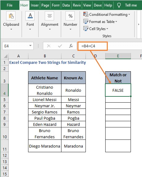 Direct Logic - Excel Compare Two Strings for Similarity