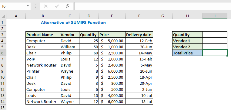 Using Sumproduct function