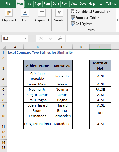 AutoFill EXACT - Excel Compare Two Strings for Similarity