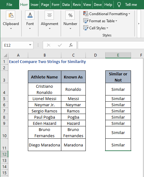 Autofill SEARCH - Excel Compare Two Strings for Similarity