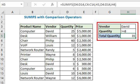 Enter the Vendor name and quantity then press Enter