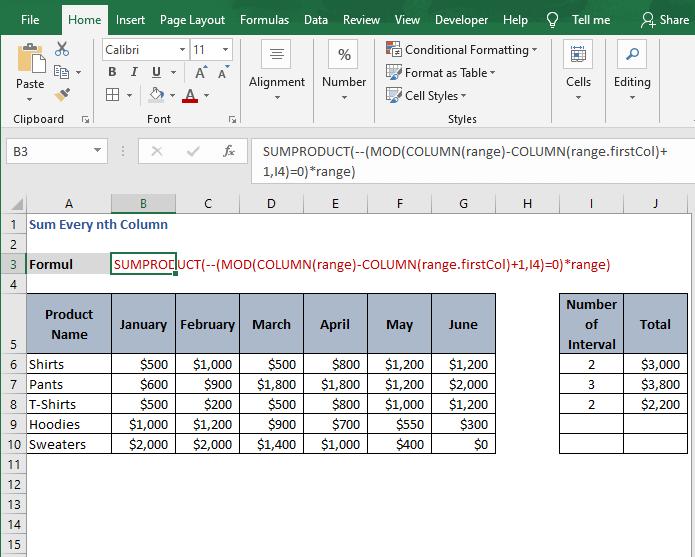 Multiply arrays - Sum Every nth Column