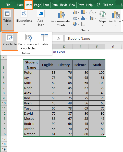 PIvot table - How to Find Minimum value in Excel