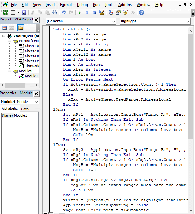 Code copy - Excel Compare Two Strings for Similarity