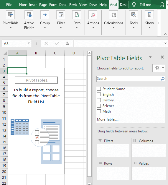 Pivot table sheet - How to Find Minimum value in Excel