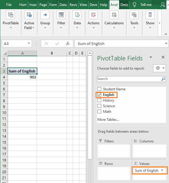 Values dragged - How to Find Minimum value in Excel