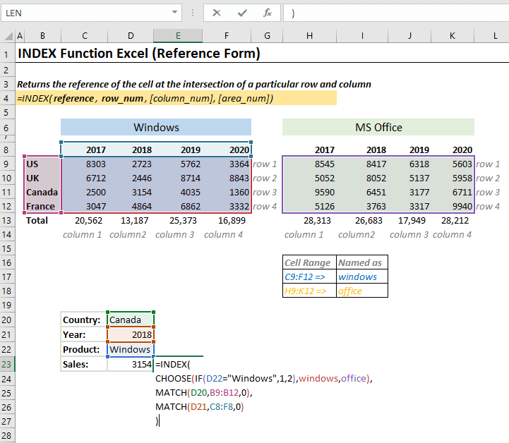 Using Choose Function with Index Function