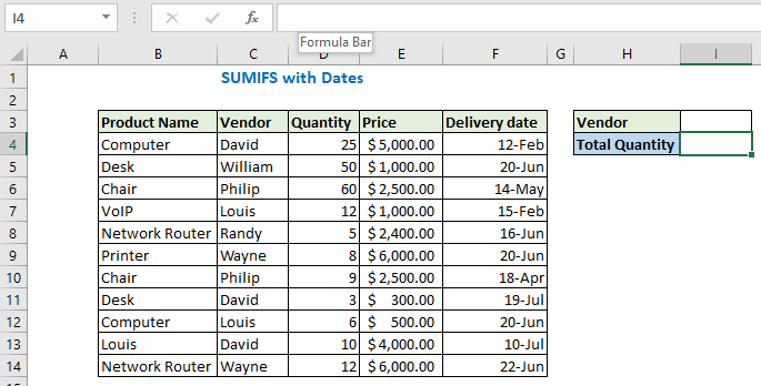 SUMIFS with Dates